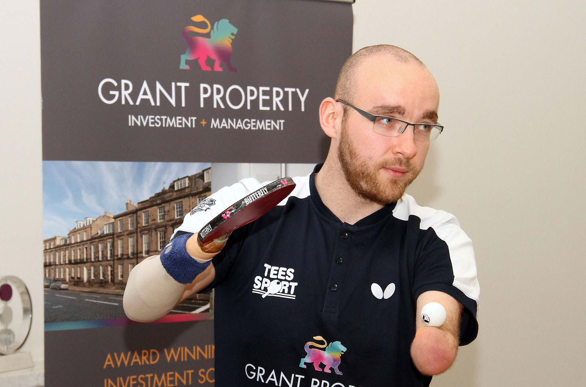 Image for Grant Property Announce Sponsorship of Disabled Table Tennis Champion, Martin Perry